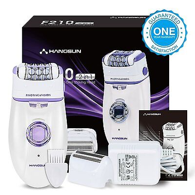 Hangsun Wet &Dry Epilator Cordless F210 Epilators For Women Electric Lady Shaver