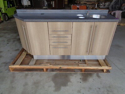 Midmark Base Cabinet With Ss Sink Corian Top Soft Close Door & Drawers 33X71X18