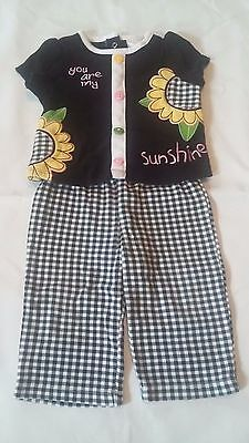 Infant baby girls 2 Piece Shirt and Pants Outfit You Are My Sunshine 3-6 months