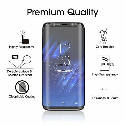 100% Genuine Tempered Glass LCD Screen Protector Film For Samsung Galaxy S8