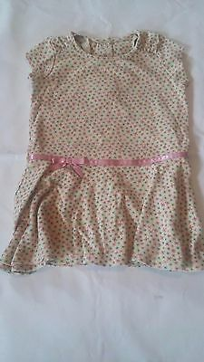 Girls Infant Toddler Gymboree Floral Dress Short Sleeve Size 18-24 months