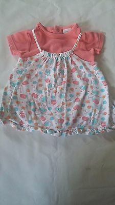 Infant Baby Girls 2 Piece Peek-A-Babe Shirt Dress Set Size 3-6 months