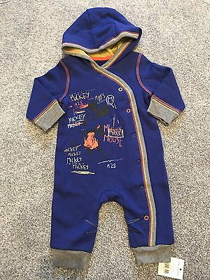 Baby Boys Mickey Mouse Romper All In One Babygrow Suit. Size 3-6 Months. BNWT.