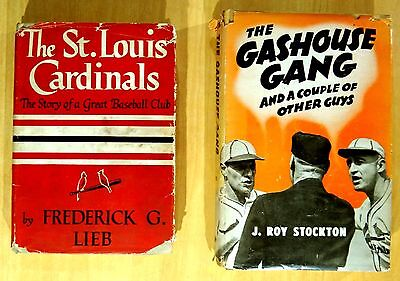 Vintage Hardcover Books ST LOUIS CARDINALS Lieb 1944 GASHOUSE GANG Stockton 1945