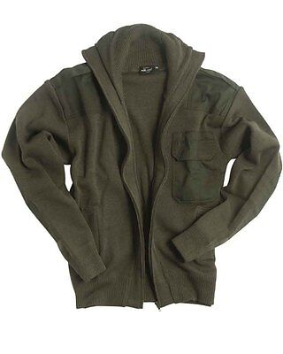 Strickjacke MILTEC® oliv, Camping, Outdoor, Military -NEU-
