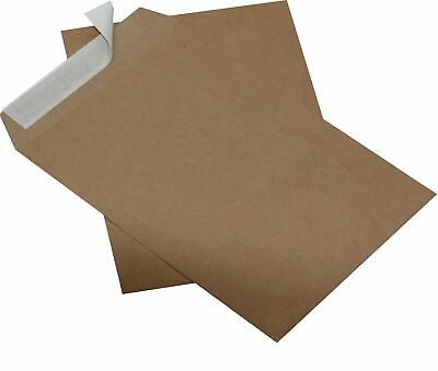 100 Pieces Envelopes Din B5 Brown without Windows Self-Adhesive Envelopes Hk