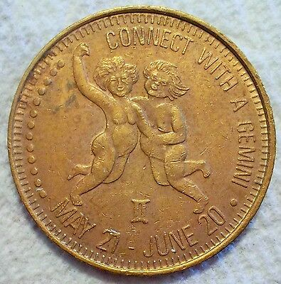 Vintage Adult Token Superior Connect With A Gemini Cherubs Highly Suggestive