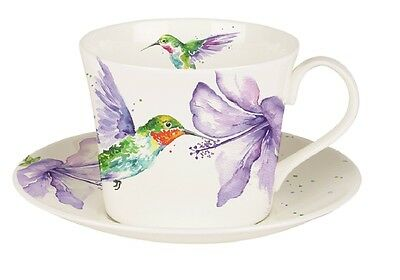 Roy Kirkham Hummingbird Fine Bone China Large Breakfast Cup & Saucer Gift Box