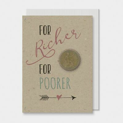 East of India For Richer For Poorer Card With Penny - Wedding Card