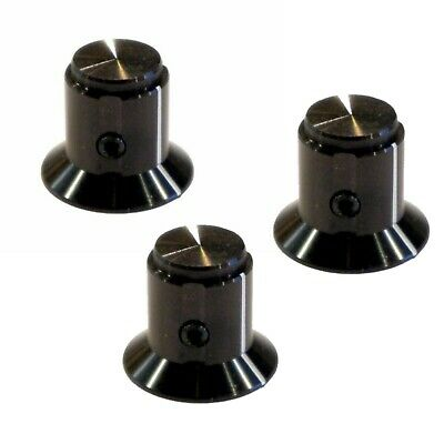 "Tyco Aluminum Fluted Knob for DIY Effects or Boss Pedals 1/4"" Knob Shaft"