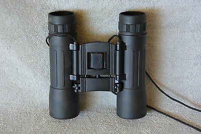 COMPACT LEIGHTWEIGHT TRAVEL BINOCULARS 10 x 15 ANTI REFLECTIVE RED LENS
