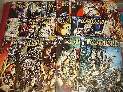 THE WARLORD #1-16 Mike Grell Complete Set DC Comics 2009  NM