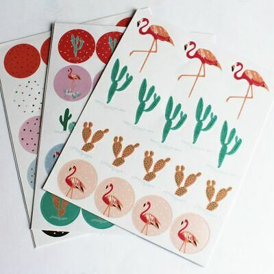 Flamingo, Cactus Tropical Sticker Pack 114 Stickers Craft