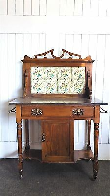 Antique Victorian marble top washstand / dressing table