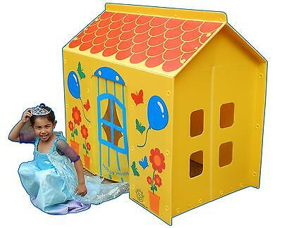 Childrens Garden Happy Play House Indoor Outdoor Tent Cottage Playhome