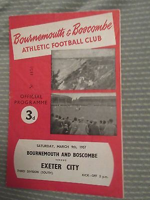1956-57 Bournemouth v Exeter