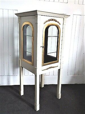 Antique style painted chic display cabinet