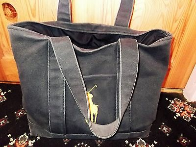 RALPH LAUREN Vintage Canvas Baby Changing Bag and Mat