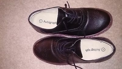 M&S black shoes for boy, size 4 UK
