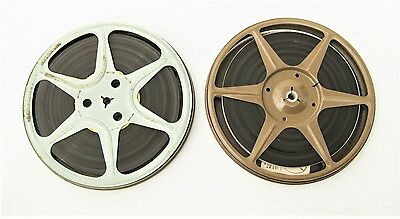 "Vintage 8mm ""mystery"" Home Movies 1960's 1970's 7 inch 400 foot  reels lot of 2"