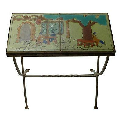 1910 Antique Arts & Crafts Mission Catalina Tile Topped Table