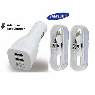OEM Adaptive Fast Charging Dual-Port Car Charger Samsung Galaxy Note 4 5 S6 7