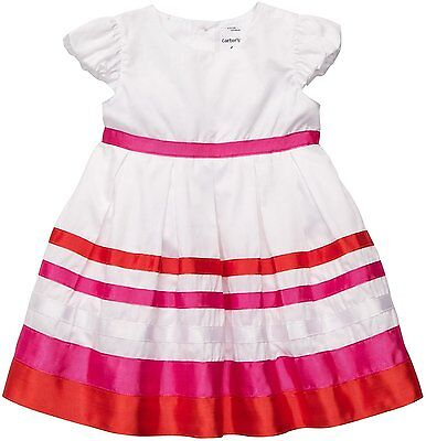 NEW Carter's baby girls Ruffles & Ribbons Party Dress-3 Months (retail $34)