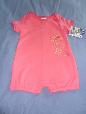 NWT Baby Girl Butterfly Summer Romper by Carter's Size 12-18 Months