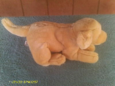 Plush Yellow Labrador Retriever Puppy Dog with Brown Leather Nose