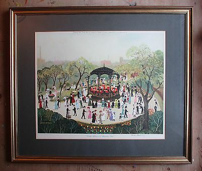 Large Genuine Original Helen Bradley Signed Limited Edition Print-Lowry Interest