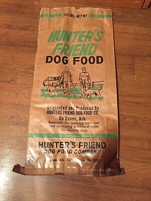Vintage Hunter's Friend Dog Food DeQueen Arkansas Great Graphics Rare