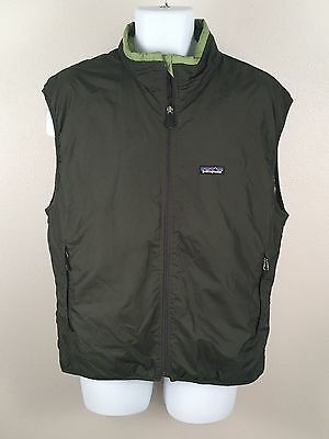 Patagonia Dark Green Unisex Hike Insulated 2 Pocket Camp Vest Sz L