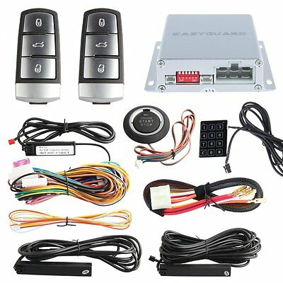 Universal Touch Keypad Entry PKE Car Alarm System Auto engine Start Push button