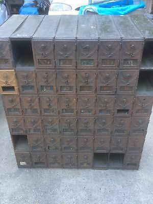Antique US Flying Eagle Mailbox Post Office Box Door US Glass Cabinet