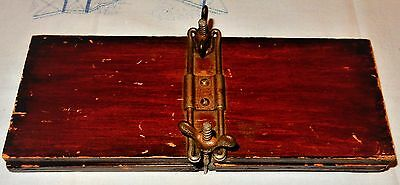 Antique Collar Clothes Laundry Flower WOODEN PRESS Steampunk Wood Late Victorian