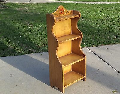 Vintage CORONADO Monterey Hand Painted Bookcase Stand 1930's Spanish Mission