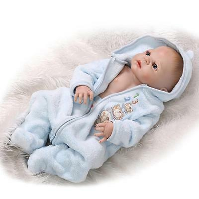 "23""Full Body Silicone Reborn Baby Preemie Doll Lifelike Newborn Dolls Girls"
