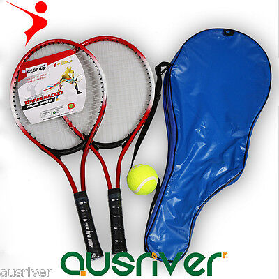 2 x Tennis Racquet Racket for Children Kids Toy Sport Red Blue One Pair