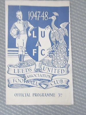 1947-48 Leeds United v Doncaster  Division Two  October 11, 1947