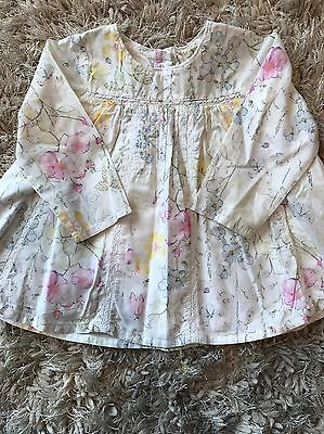 Next Baby Girl Top Age 9-12 Months