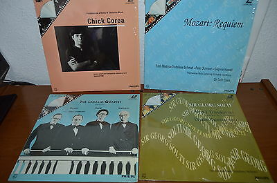 4 Discos Laser disc Chick Corea + Mozart: Requiem + Sir Georg Solti + The Lasall
