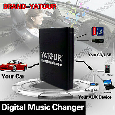 Yatour Adapter MP3 Music CD Changer Connector for Acura CSX MDX RDX RL TL TSX
