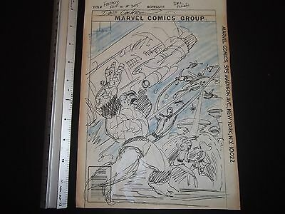 Fantastic Four #205  Unused Cover Prelim - 1979 art by Dave Cockrum - signed