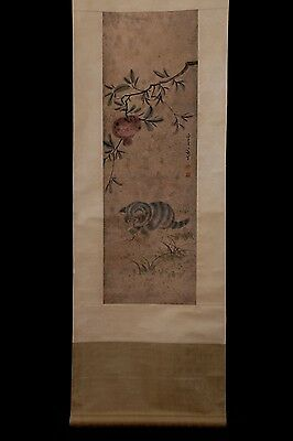 Very Long Superb Chinese Workmanship Old Scroll Painting Collectible PP935