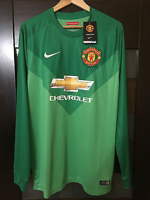 Manchester United England 2014 Goalkeeper Football Shirt Jersey Rare