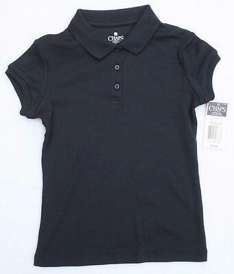 Chaps School Approved Girls Navy Polo - Size XL- (6X) - NWT
