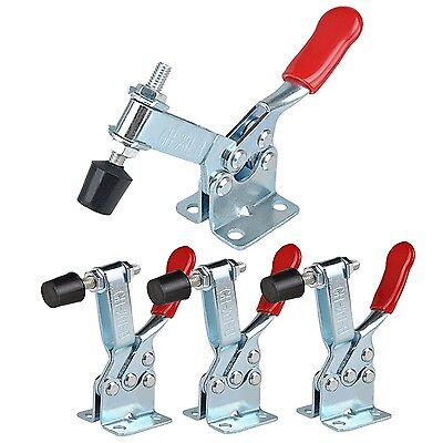 4 Pcs Hand Tool Toggle Clamp 201B Antislip Red Horizontal Clamp 201-B E-TING
