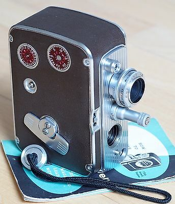 Bell & Howell 8mm Filmo 172-A Auto-8 movie camera, 0.5in 1.9 Super Comat lens