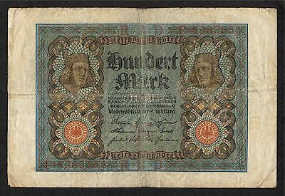 100 Mark Reichsbanknote Germany 1920 Currency Note - Circulated
