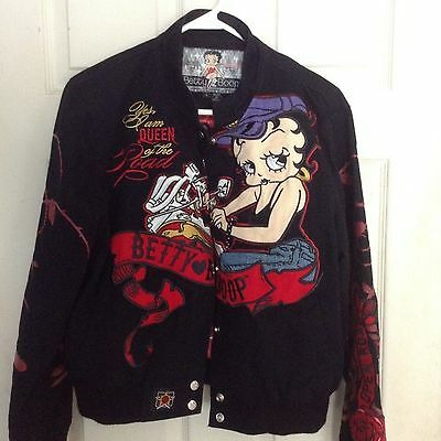 Betty Boop JH Design Group Black Twill Queen of the Road Jacket